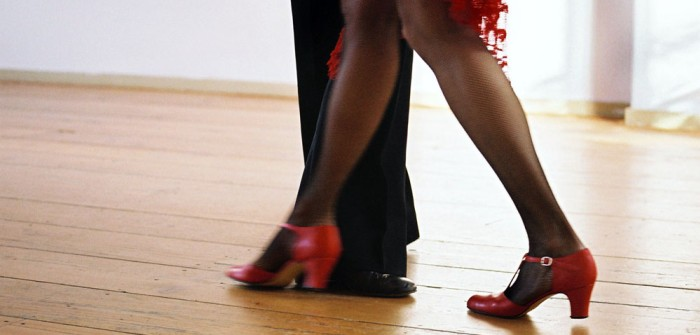 Abendmode für Schwangere: für den Tango (zu dritt)