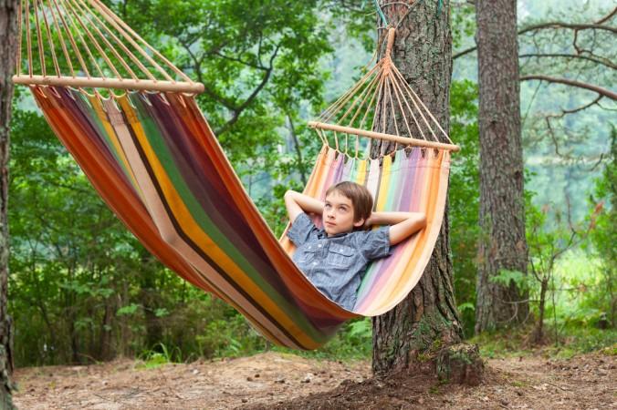 Einfach eine Hängematte zwischen die Bäume und schon kann der Urlaub beginnen. (#3)