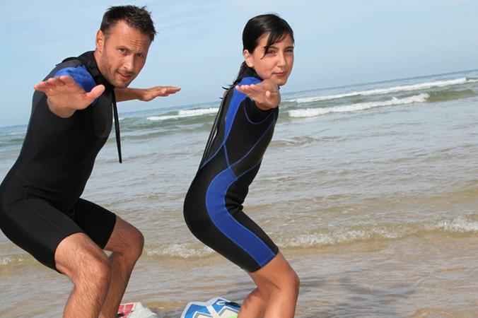Auch Surf Anfänger kommen in Biscarosse auf ihre Kosten: es gibt Surfkurse für Erwachsene und auch spezielle Surfkurse für Kinder. (#3)