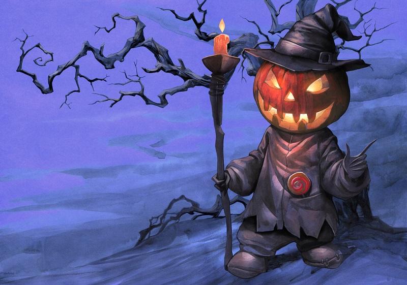 Der Legende nach geht der Halloween Brauch, einen Kürbis zu schnitzen und ihn mit einer Kerze zu erleuchten, auf die Lebensgeschichte von Jack Oldfield zurück.(#03)