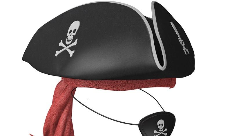 Online gibt es verschiedene Vorlage für einen Piratenhut zu basteln. (#01)