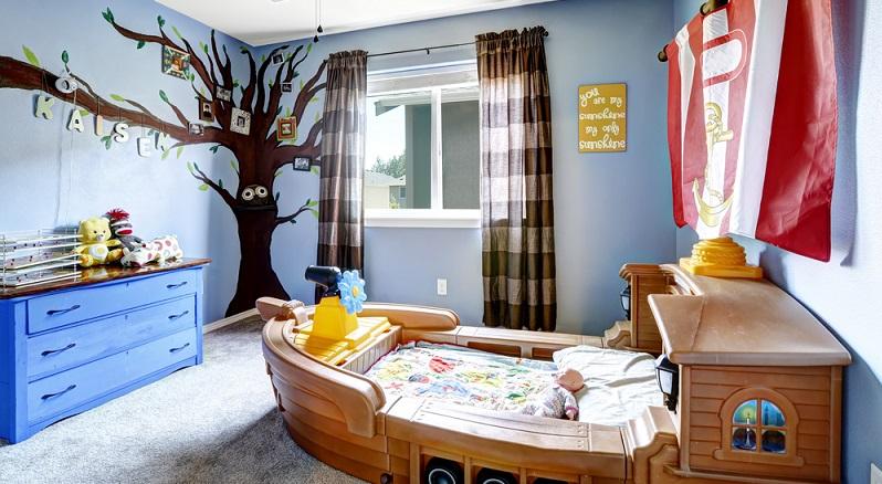 Viele Kinderzimmer auf Fotos sind in zwei oder höchstens drei Farben gehalten. (#01)