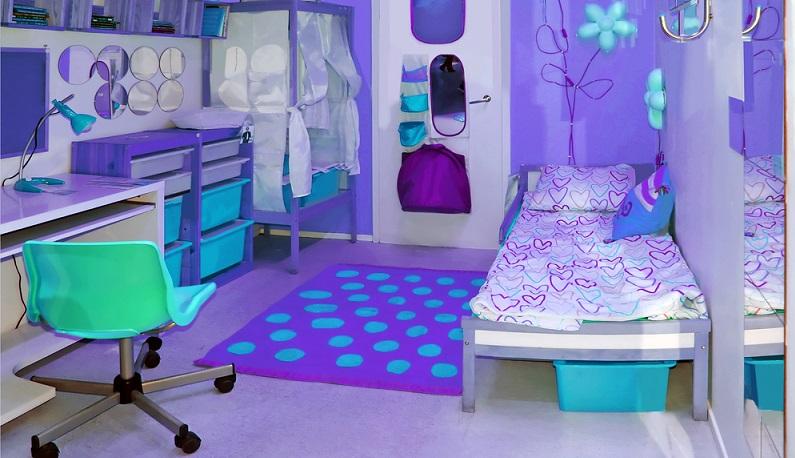 Viele Kinderzimmer auf Fotos sind in zwei oder höchstens drei Farben gehalten. (#03)